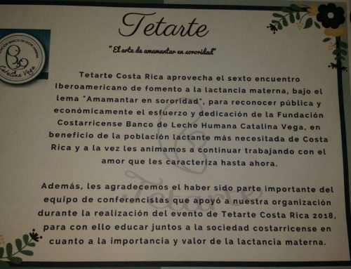 Tetarte 2018: Fundación Banco de Leche Humana Catalina Vega